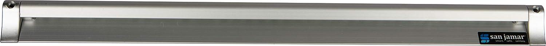 """San Jamar CK6536A Anodized Aluminum Slide Check Rack, 36"""" Length x 3/4"""" Width x 2"""" Height"""