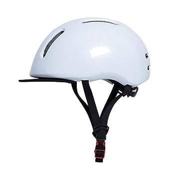 DEI QI Casco de equitación, Equipo de equitación para Hombre y Mujer, Bicicleta eléctrica Bicicleta Plegable, Casco de Seguridad (Color : Blanco, ...