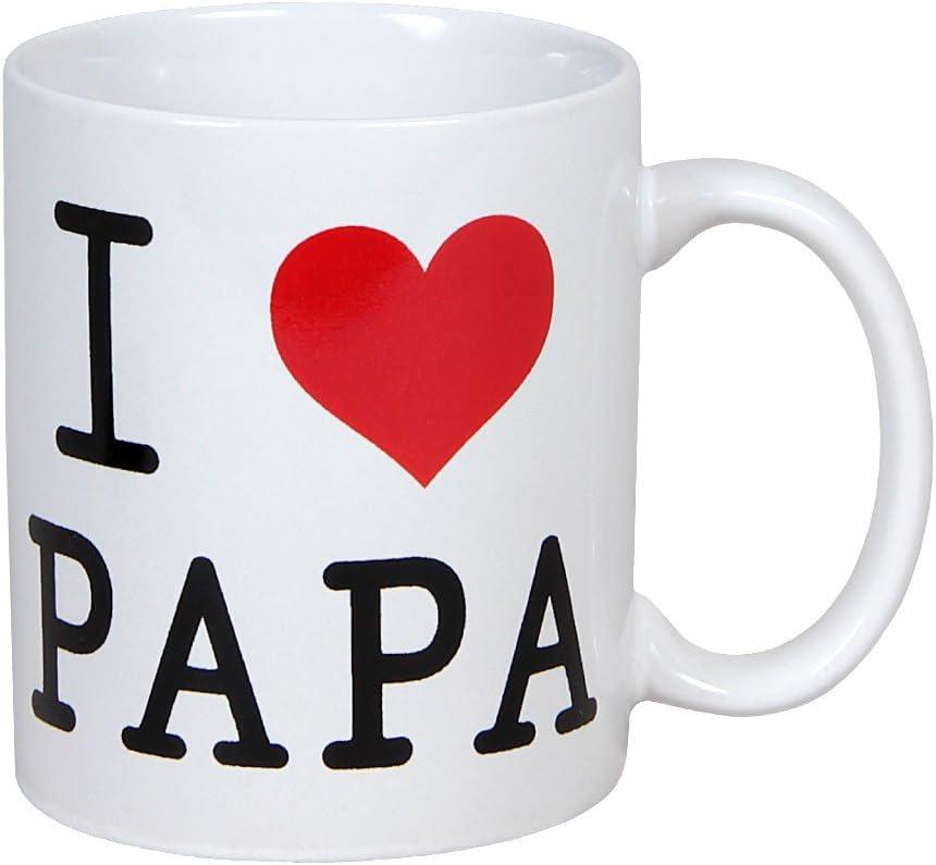 Alsino Tasse Mug Blanc avec linscription I Love Papa en Noir et Coeur Rouge 78//8236 I Love Papa