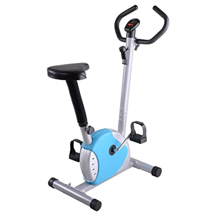 Incredible Amazon Com Zehuoge Blue Upright Exercise Bike Steel Abs Creativecarmelina Interior Chair Design Creativecarmelinacom
