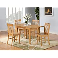5PC Rectangular Kitchen Dinette Set Table & 4Chairs
