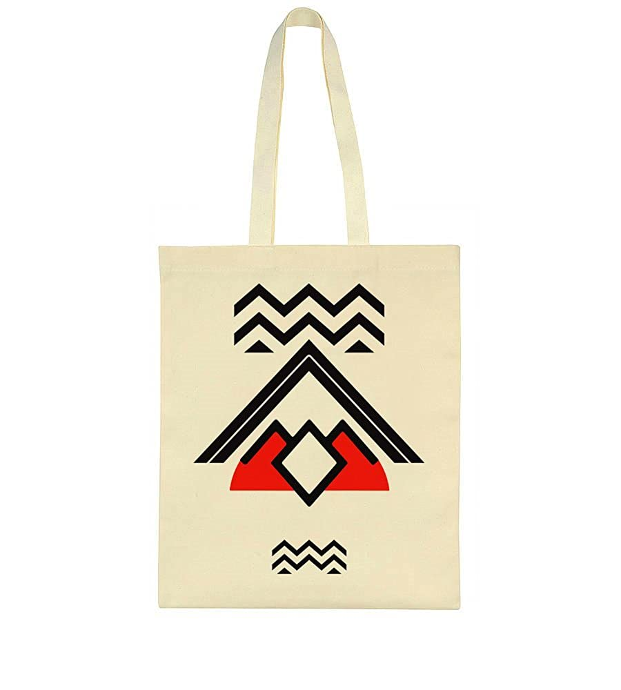 idcommerce Minimalist Twin Peaks Design Tote Bag Sac fourre-tout réutilisable idcmc-CanvasBag-BGE-BJXE