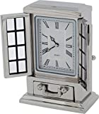 Gift Time Products Unisex French Dresser Miniature Clock - Silver
