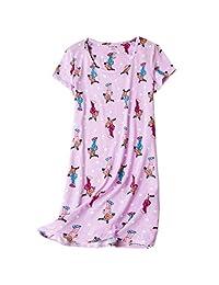 ENJOYNIGHT Women's Sleepwear Cotton Sleep Tee Short Sleeves Print Sleepshirt…