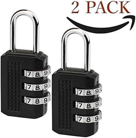 Savior Pack 2 Candado - Cerradura de combinación de 3 dígitos para ...