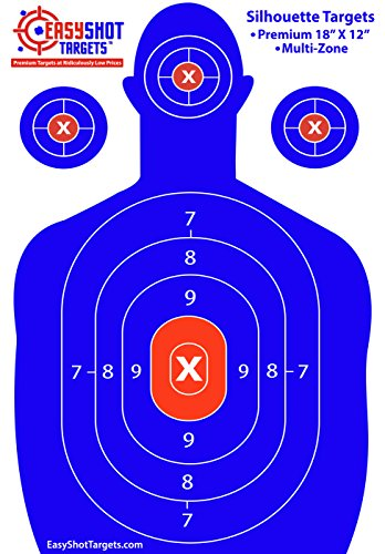 EasyShot-Premium-Silhouette-Shooting-Targets-Maximum-Visibility-Bright-Blue-Red-18X12-Easy-To-See-Your-Shots-Land-150-Free-Repair-Stickers