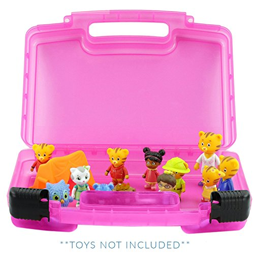 Life Made Better Daniel Tiger Case, Figurines and Accessories Organizer and Carrying Case, Pink -