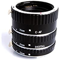 Meike Metal Mount Auto Focus Macro Extension Tube Set 12mm 20mm 36mm For Canon Digital SLR Cameras Black