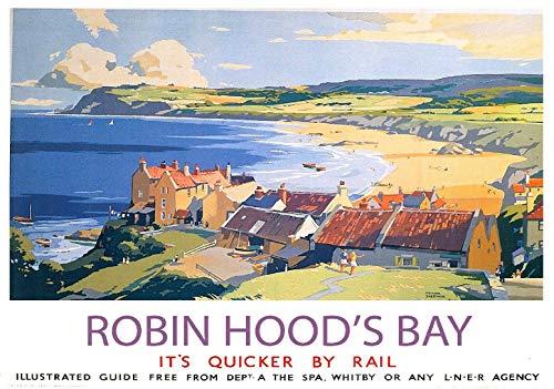 (ShopForAllYou Posters & Prints Full Wall Posters Robin Hood's Bay LNER Vintage British Rail Travel)