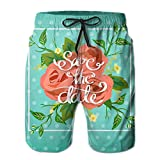 Zxm Men's Wedding Save The Date Summer Short Beaches Quick Dry Swim Casual Board Shorts