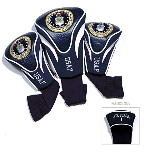 Team Golf Military Air Force Contour Golf Club Headcovers (3 Count), Numbered 1, 3, X, Fits Oversized Drivers, Utility, Rescue & Fairway Clubs, Velour Lined for Extra Club Protection Air Force One Driver