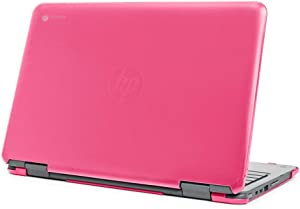 "mCover Hard Shell Case for Late-2019 11.6"" HP Chromebook X360 11 G2 EE laptops (Pink)"