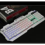 Backlit Game Wired Keyboard,Metal,Mechanical Feel,USB Connection-B