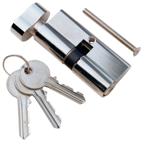 Bulk Hardware BH00438 5-Pin Thumbturn Security Door Lock, 30 x 30 mm, Overall Length 60 mm (2.3/8 inch) - Bright Nickel (Furniture Conservatory Uk Sets)