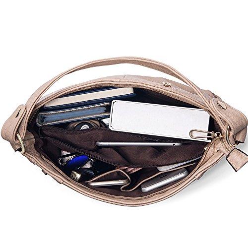 Review UTAKE Women's Shoulder Bags PU Leather Hobo Handbags Top-Handle Purse for Ladies
