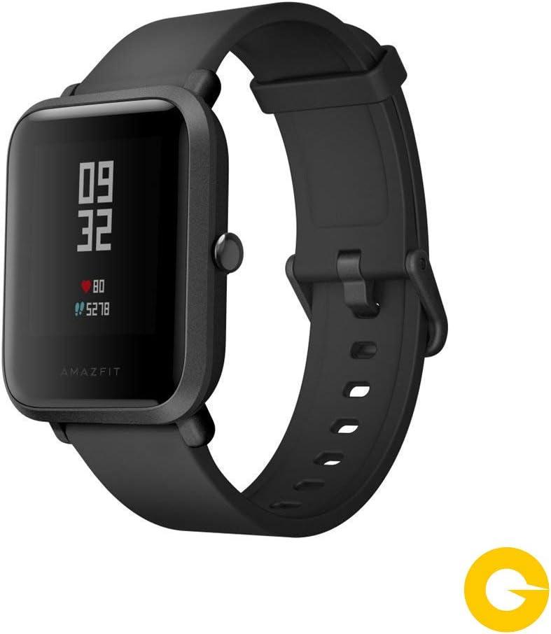 Amazfit Bip Smartwatch Monitor de Actividad Pulsómetro Ejercicio Fitness Reloj Deportivo (Versión Internacional) Negro/Black