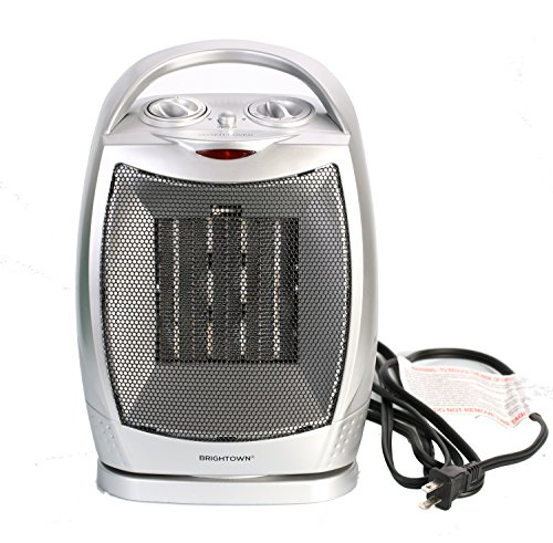 750W/1000W ETL Listed Oscillating Quiet Ceramic Space Heater with Adjustable Thermostat, Portable Electric Heater Fan with Overheat Protection and Carrying Handle