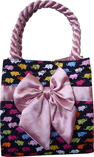 Ariyas Thaishop, piccola borsa delle signore in cotone con nastro e piccolo elefante modello 20 x 20 x 13 cm (BxHxT)