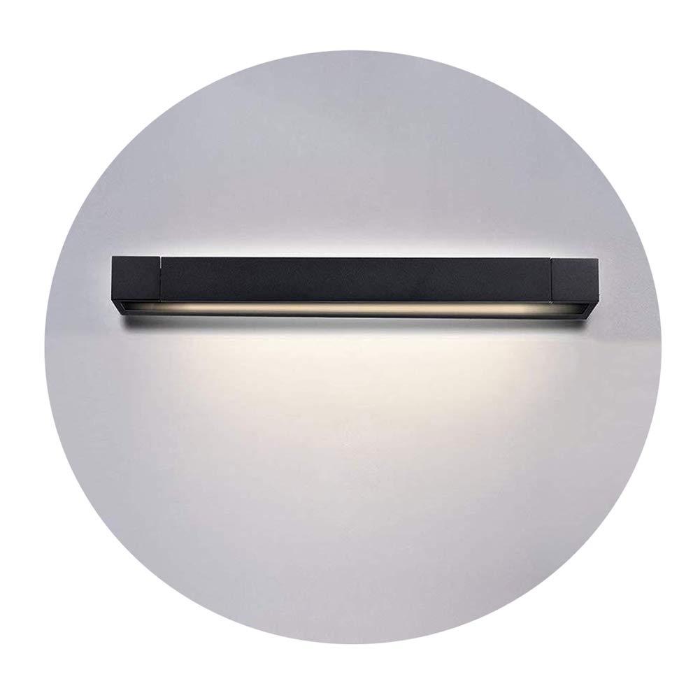 Ralbay 12W LED Vanity Light Aluminum Makeup Mirror Light LED Wall Lamp Up Down Light Effect Bathroom Vanity Lighting Fixture (Black 4000K)