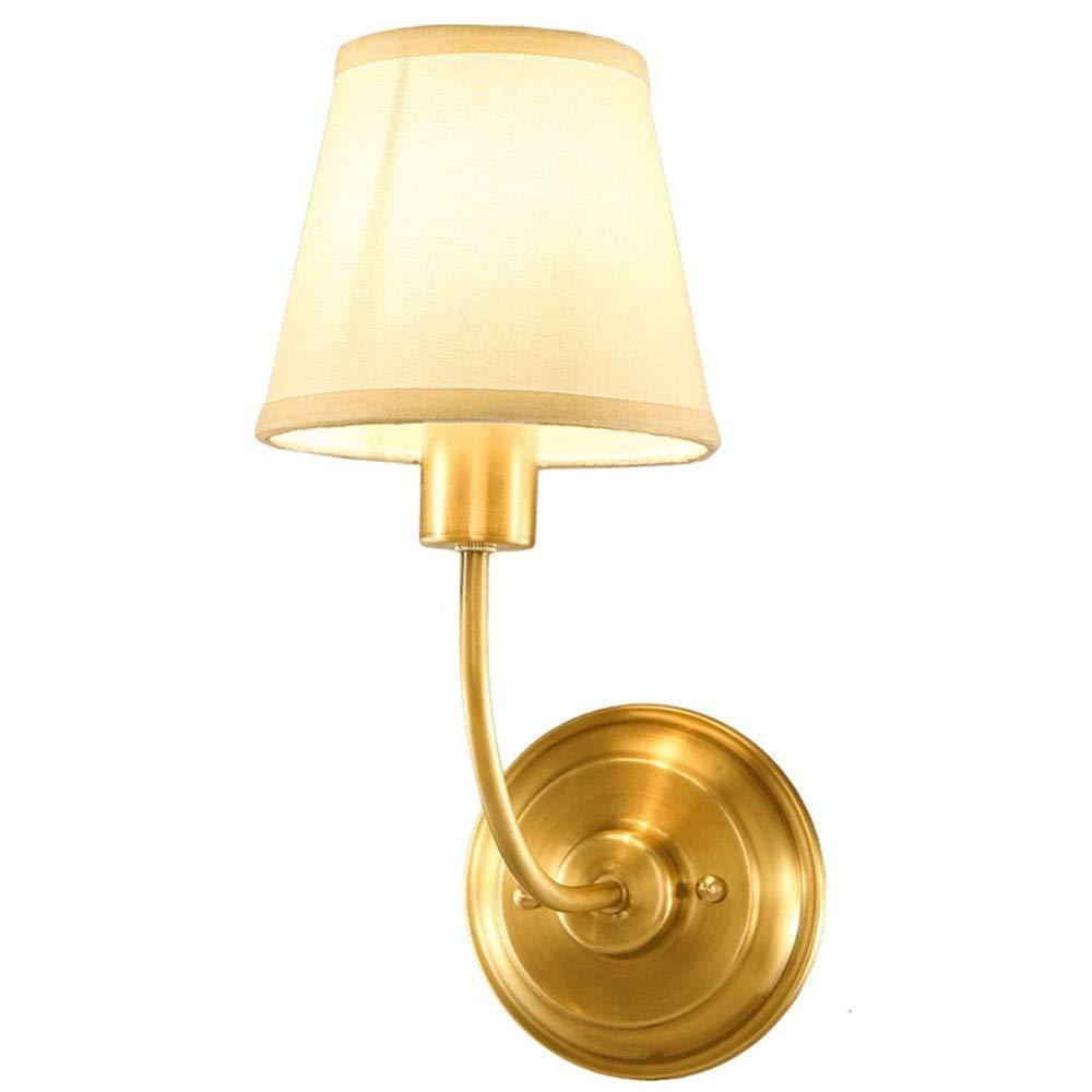 Aussenlampe Wandbeleuchtung Wandlampe Wandleuchte Innen Amerikanische Wandleuchte Full Copper Bedroom Nachttischlampe Home Staircase Moderne Minimalistische Flur Wohnzimmerlampe [Energi
