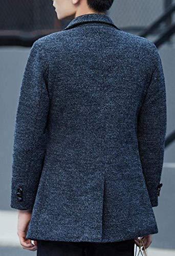 Pour En Simple Hommes À Kangqi Gery Boutonnage De Vêtements Pardessus Vestes Laine ZUwxTw