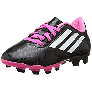 adidas Performance Conquisto Firm-Ground J Soccer Cleat ,Black/White/Solar Pink,4.5 M US Big Kid