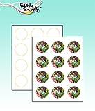 Edible Supply VIF Edible Paper - 2'' Circle (12 Sheets Per Pack)