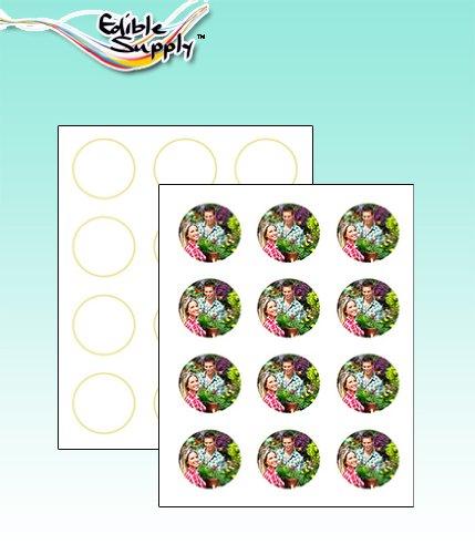Edible Supply VIF Edible Paper - 2'' Circle (12 Sheets Per Pack) by Edible Supply