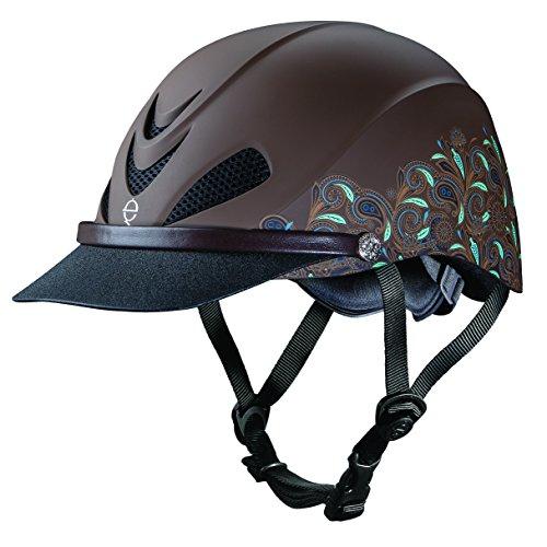 Troxel Dakota Performance Helmet, Turquoise Paisley, (Horse Helmet)