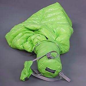 NewDoar Urltra-Light Goose Sown Sleeping Bag Spring Autumn Urltra-compactable Sleeping Bag Mummy Sleeping Bag(Green)