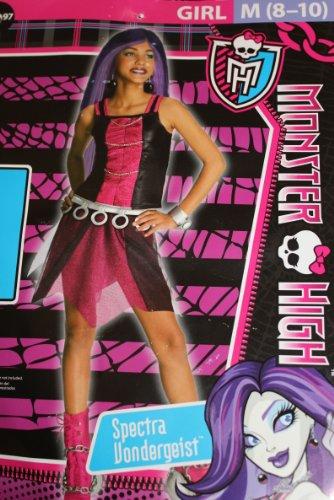 Monster High Spectra Vondergeist Child Costume - Medium (8-10) - Black/Pink -