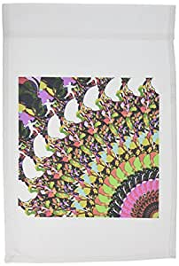 3dRose fl _ 53331_ 1bandera de Jardín, 12por 18pulgadas, abstracto Disc Golf puttersports imagen características Colorful Frisbee disco de Golf puttter