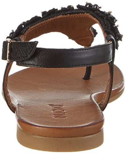 Inuovo 7255, Chanclas para Mujer Schwarz (Black)