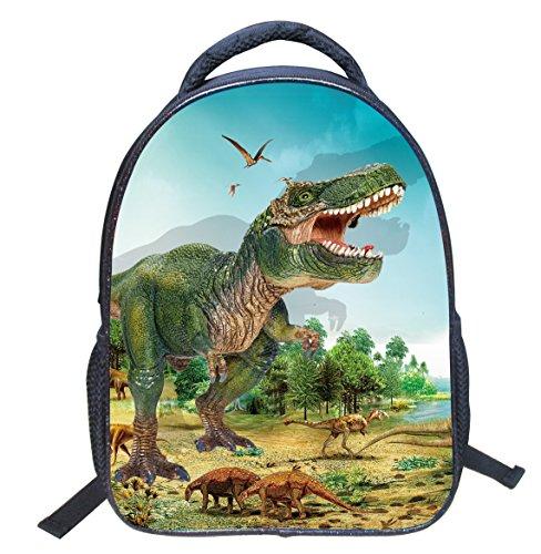 Kids Backpacks School Bag Rucksack Magic Dinosaur Backpack for Boys Girls 14 inch