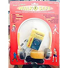 Small AM/FM Sports Radio w/ Alarm + Headphones - Great for Walking Jogging Running - Yellow
