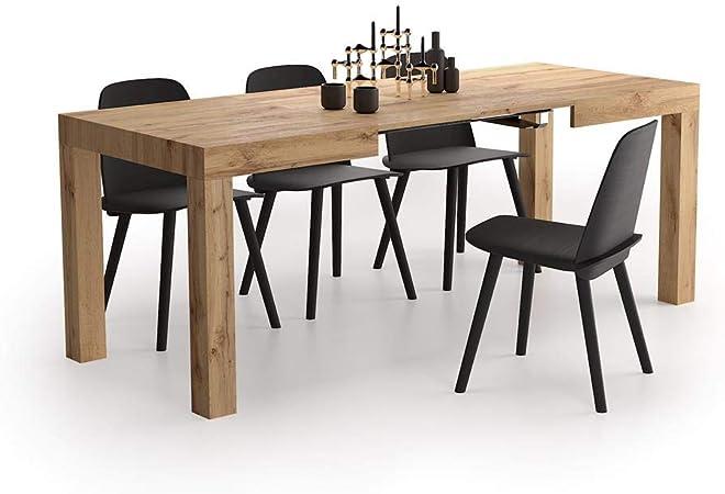 Mobili Fiver Table Extensible Cuisine First Bois Rustique 120