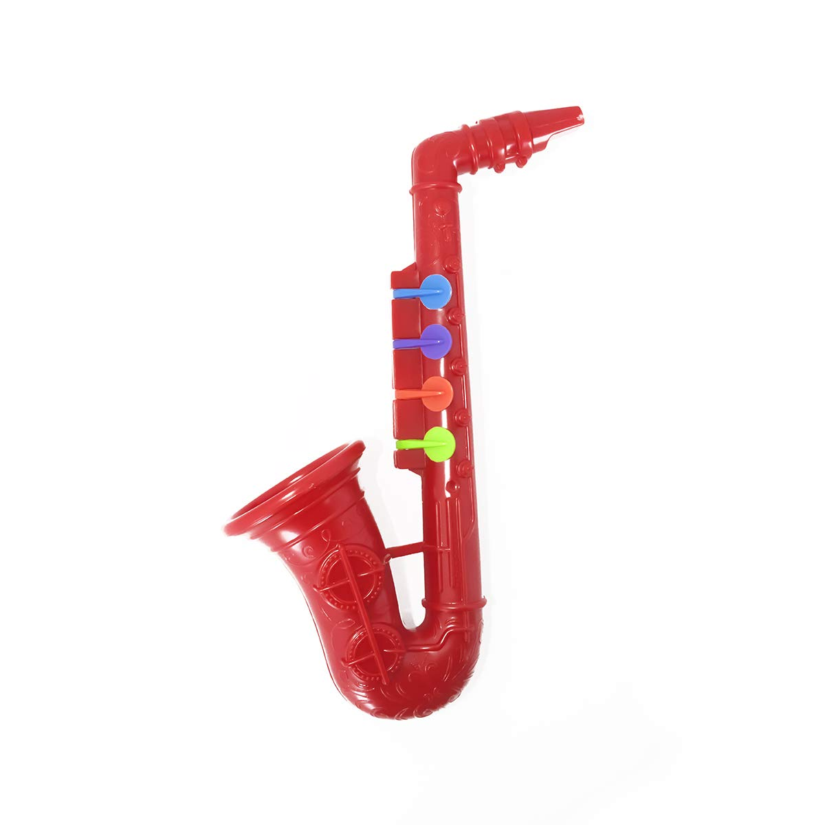 GROSSARTIG CBSKY Plastic Saxophone Educational and Professional with 4 Colored Keys, Great Gift, Musical Toys for Kids/Girls/Boys (Color : Red) by GROSSARTIG