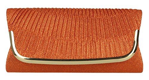 Girly Handbags - Cartera de mano de Material Sintético para mujer naranja