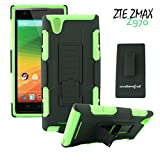 Customerfirst - Kickstand Case and Belt Clip Holster Combo Cover for ZTE ZMAX