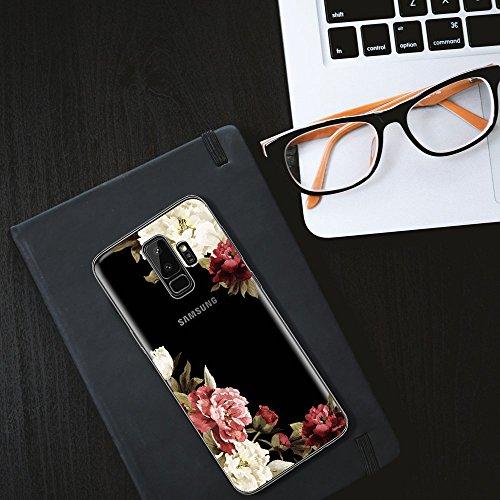 03 Housse Flexible Trs S9 aux Gel Fleurs Galaxy Printemps Coque S9 de Silicone Choc pour Fleurs de Liquid Plus Coque Galaxy Crystal Rsistant TPU Absorption Rayures Lgre wxFEZp