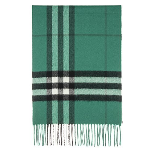 Burberry Unisex Classic Check Cashmere Scarf Green by BURBERRY