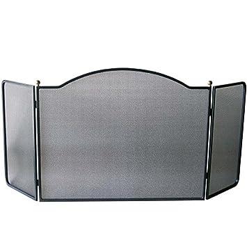 Fonderie Lacoste Pare-Feux Cahors Haut. 56 cm - Acier - 121 x 2 x 56 cm