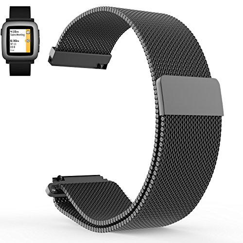 pebble-time-band-loveblue-pebble-time-2-band22mm-magnetic-milanese-loop-stainless-steel-magnet-lock-