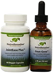 Native Remedies Gout-Gone and JointEase Plus ComboPack