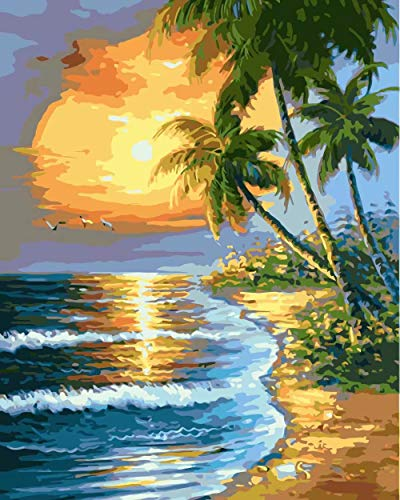 Diy 5D Diamond Sticker Cross Stitch Painting Kits Arts Crafts - Tropical Palm Tree - Tropical Diamond Tree Palm