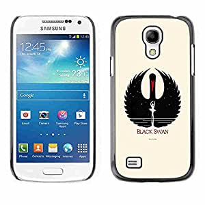 Shell-Star ( Black Swan ) Fundas Cover Cubre Hard Case Cover para Samsung Galaxy S4 MINI / i9190 / i9192