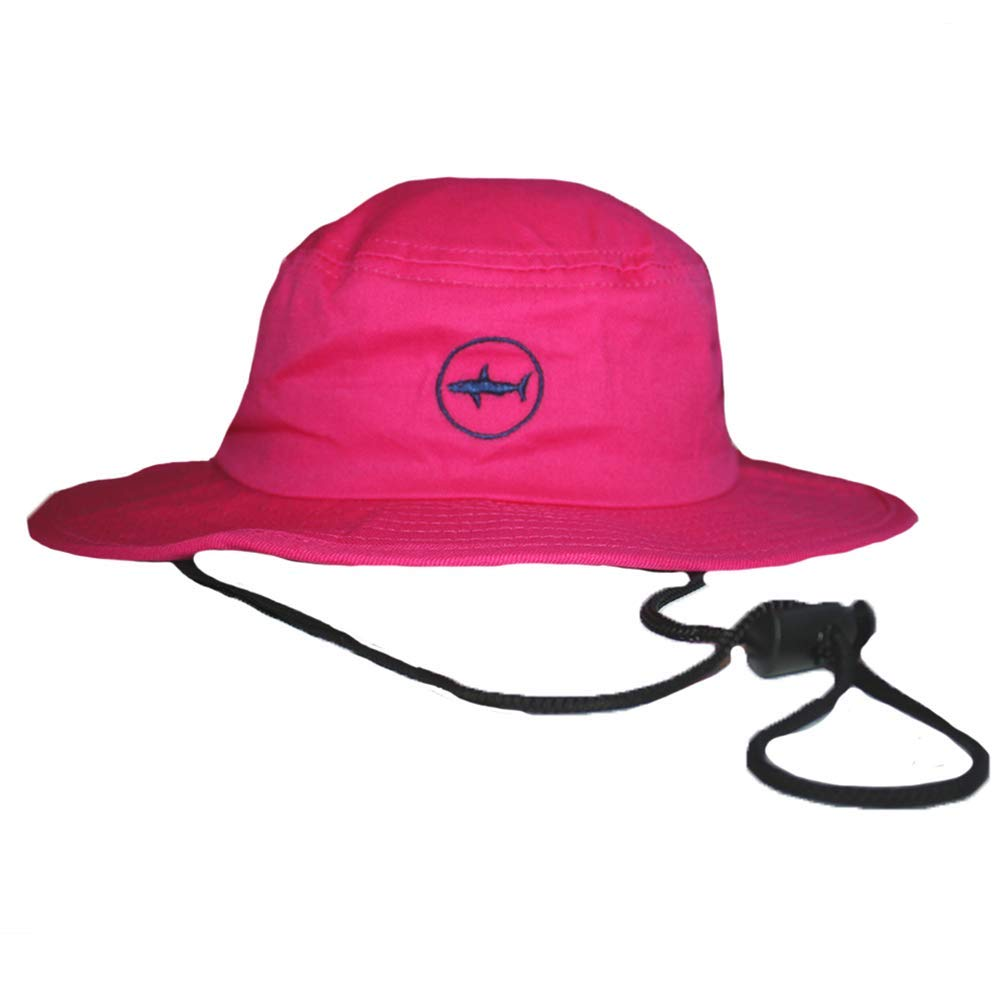 Amazon.com  Sharks On Shore Classic UPF 50 Hot Pink Bucket Hat with Navy  Under Brim and Circle Shark Logo for Boaters and Beachgoers  Clothing 2bd3b1aee16