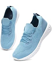 HKR Sportschoenen voor dames, ademende loopschoenen, lichtgewicht sportschoenen, vrijetijdsschoenen, straatloopschoenen, sneakers, trainer voor outdoor, fitness, gym, wandelschoenen