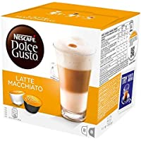 NESCAFÉ DOLCE GUSTO Latte Macchiato Coffee Pods 16 Capsules (Pack of 3 - Total 48 Capsules, 24 Servings)