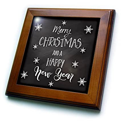 3drose sven herkenrath celebration merry christmas and a happy new year trendy card 8x8